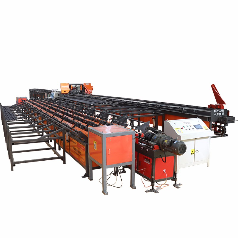 Automatic steel saw cutting,pier thick,thread,grinding production line